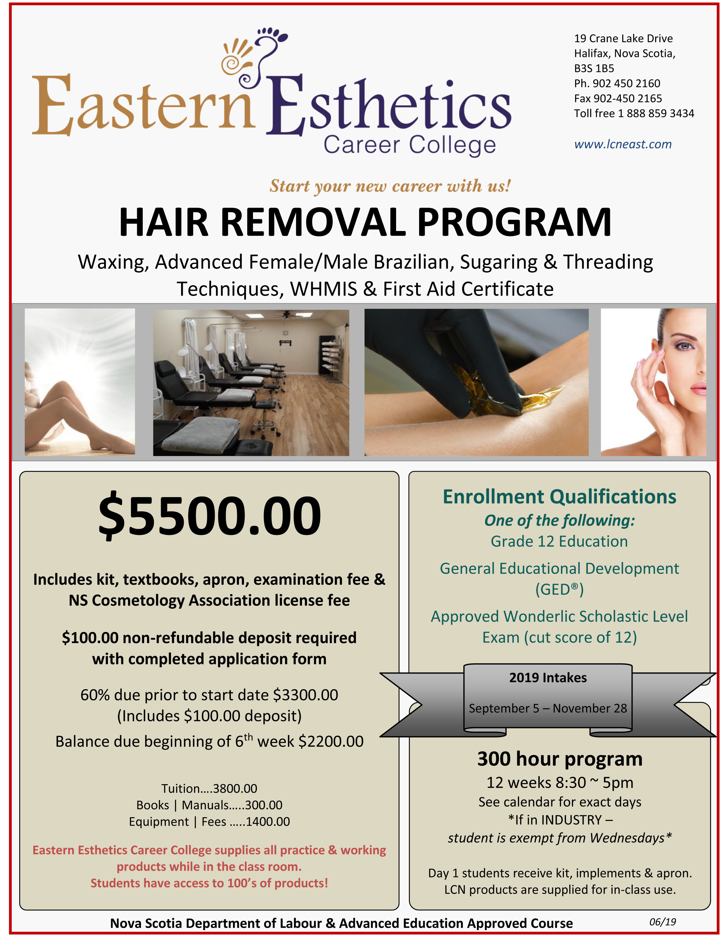 2019 EECC flyer hair removal program june