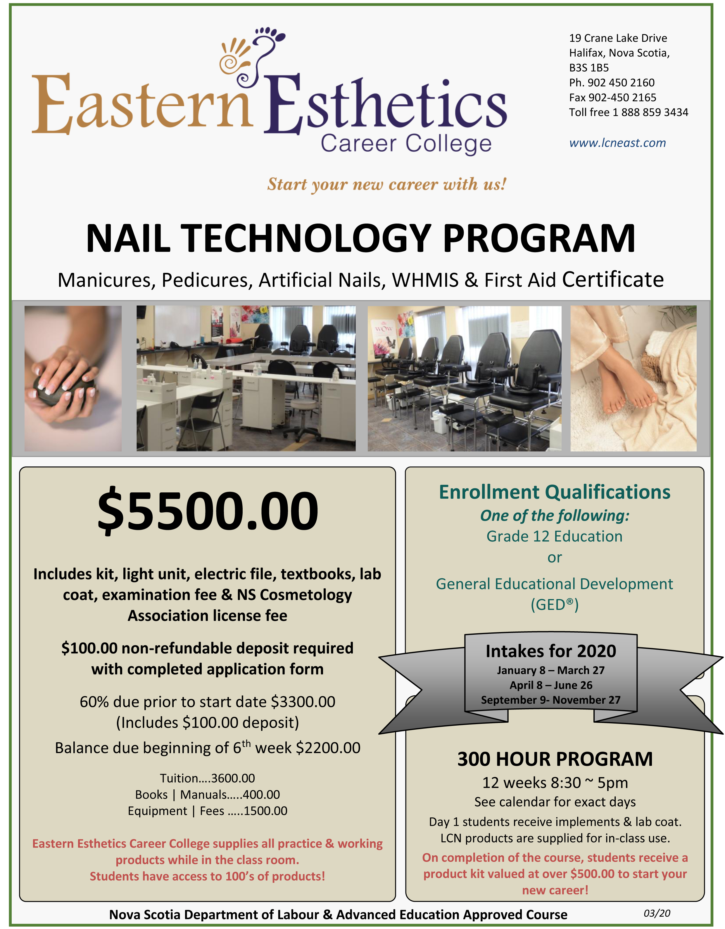 2020 EECC flyer nail tech program march