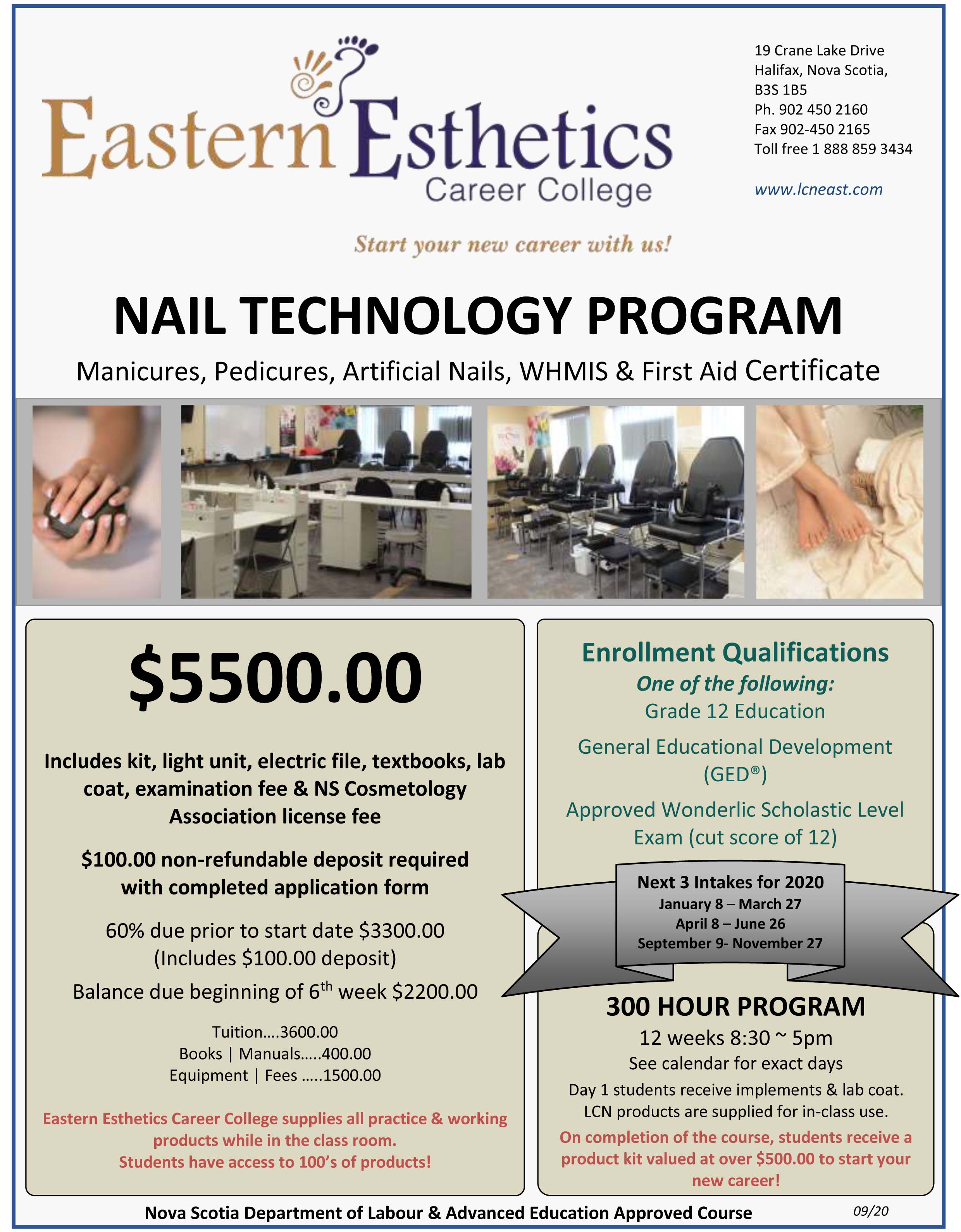 2020 EECC flyer nail tech program new